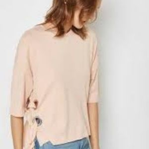 Topshop pink boxy tee US SIZE 10